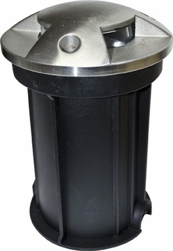 Dabmar Stainless Steel In-Ground Drive-Over Well Light with PVC Sleeve LV321-SS316