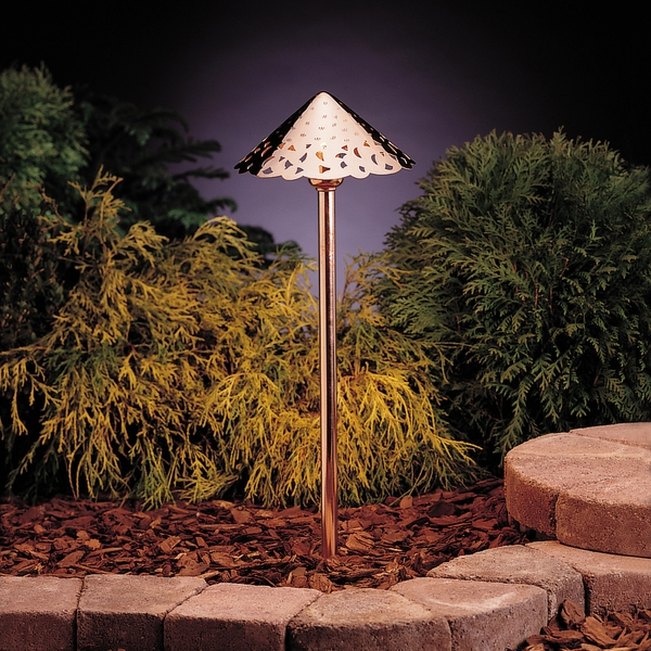 Decorative exterior lighting pathway light by kichler 15443co