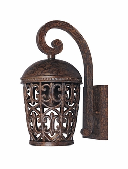 "Designers Fountain Amherst Dark Sky 13.25"" Outdoor Wall Lantern - Umber 97591-BU"