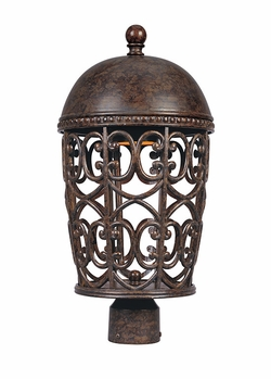 Designers Fountain Amherst Dark Sky Exterior Post Light - Umber 97596-BU