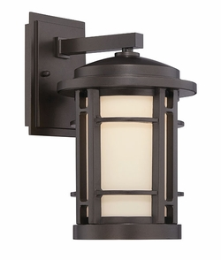 "Designers Fountain Barrister 14.5"" LED Exterior Light Sconce - Bronze LED22431-BNB"