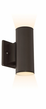 """Designers Fountain Barrow LED 7.5"""" Exterior Wall Sconce - Bronze LED33001C-ORB"""