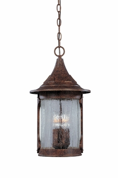 Designers Fountain Canyon Lake Hanging Outdoor Light - Chestnut 20934-CHN