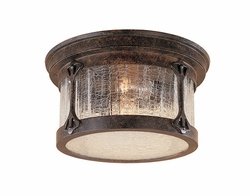 Designers Fountain Canyon Lake Outdoor Flush Mount Ceiling Light - Chestnut 20935-CHN