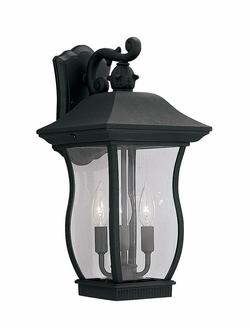 "Designers Fountain Chelsea 18.5"" Outdoor Wall Sconce - Black 2722-BK"