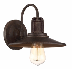 "Designers Fountain Cooper 9.75"" Outdoor Wall Lantern - Bronze 22821-VBR"