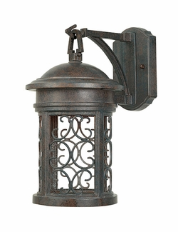 "Designers Fountain Ellington Dark Sky 16.25"" Outdoor Wall Lighting Fixture - Patina 31121-MP"