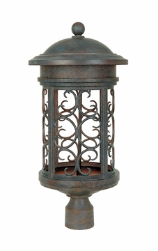 Designers Fountain Ellington Dark Sky Exterior Post Lamp - Patina 31136-MP