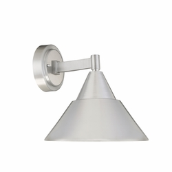 "Designers Fountain Fremont 10"" LED Exterior Light Sconce - Brushed Aluminum LED34731-BA"