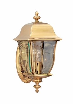 "Designers Fountain Gladiator 14.75"" Outdoor Wall Lighting - Polished Brass 1532-PVD-PB"