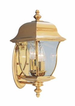 "Designers Fountain Gladiator 17.25"" Outdoor Wall Sconce - Polished Brass 1542-PVD-PB"