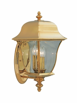 "Designers Fountain Gladiator 20.5"" Outdoor Wall Sconce Lighting - Polished Brass 1552-PVD-PB"