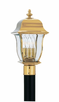 Designers Fountain Gladiator Outdoor Post Lighting Fixture - Polished Brass 1556-PVD-PB