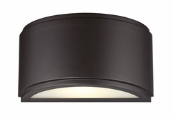 """Designers Fountain Halsey LED 9"""" Outdoor Wall Light - Bronze LED34631-ORB"""