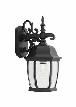 "Designers Fountain Tiverton 16"" Outdoor Wall Sconce - Black 2421-BK"