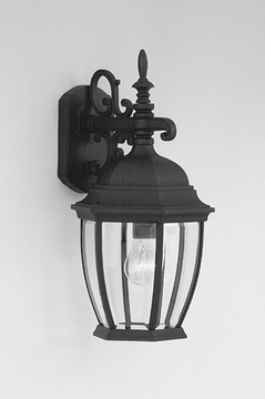 "Designers Fountain Tiverton 18.25"" Outdoor Wall Sconce Lighting - Black 2431-BK"