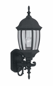 "Designers Fountain Tiverton 21.5"" Outdoor Wall Light - Black 2422-BK"