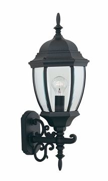 "Designers Fountain Tiverton 24.25"" Outdoor Wall Lamp - Black 2432-BK"