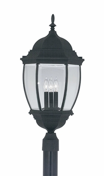 "Designers Fountain Tiverton 27.5"" Exterior Post Light - Black 2446-BK"