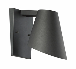 "Designers Fountain Walker 8"" LED Exterior Wall Sconce - Black LED23211-BK"