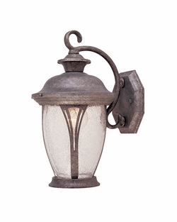 "Designers Fountain Westchester 12.75"" Outdoor Wall Lighting Fixture - Rustic Silver 30511-RS"