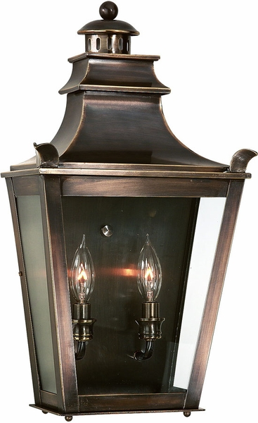 Dorchester Exterior Wall Lighting Fixture Solid Brass By