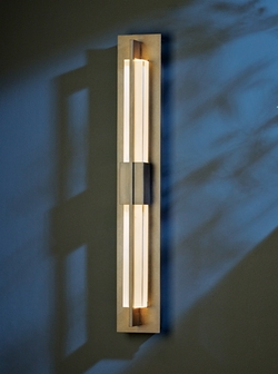 """Double Axis Medium 31"""" LED Outdoor Wall Mount By Hubbardton Forge - Contemporary 306420D"""