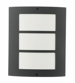 """Eglo City Fluorescent 11"""" Outdoor Wall Mounted Light - Anthracite 83217A"""