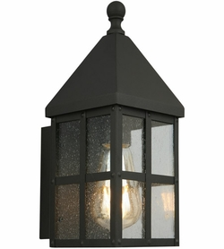 "Eglo Creston Creek 13"" Exterior Light Sconce - Black 203019A"