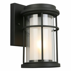 "Eglo Helendale 10"" Outdoor Wall Sconce - Black 203024A"