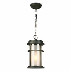"Eglo Helendale 15"" Outdoor Pendant Light Fixture - Zinc 203027A"