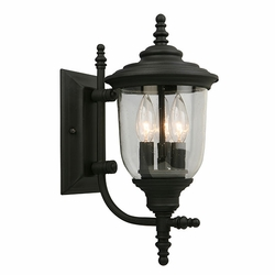 "Eglo Pinedale 16"" Exterior Wall Lighting - Black 202803A"