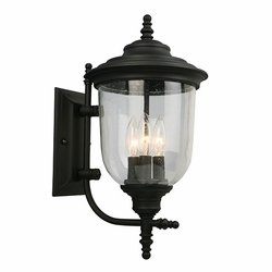 """Eglo Pinedale 18"""" Outdoor Wall Light - Black 202802A"""