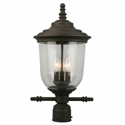 "Eglo Pinedale 20"" Outdoor Post Lantern - Bronze 202878A"