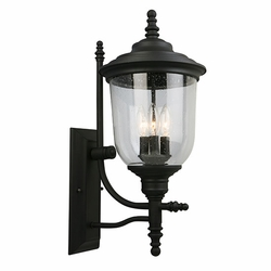 "Eglo Pinedale 23"" Outdoor Wall Sconce - Black 202801A"