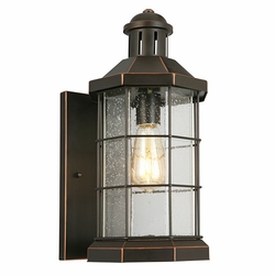 "Eglo San Mateo Creek 17"" Exterior Light Sconce - Bronze 202871A"