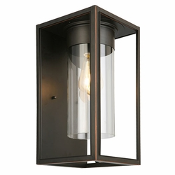 "Eglo Walker Hill 15"" Outdoor Wall Sconce Lighting - Bronze 203032A"