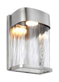 "Feiss Bennie 8"" Brushed Steel Exterior Sconce OL14100PBS-LED"