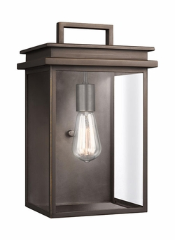 "Feiss Glenview 14.75"" Outdoor Wall Sconce Lighting OL13602ANBZ"