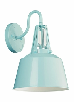 """Feiss Freemont 13.25"""" Outdoor Wall Sconce - Blue OL15002SHBL"""