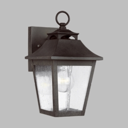 "Feiss Galena 10.8"" Outdoor Wall Sconce OL14401SBL"
