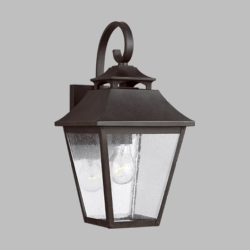 "Feiss Galena 16"" Outdoor Wall Sconce Lighting OL14402SBL"