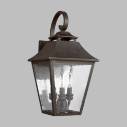 "Feiss Galena 19"" Outdoor Wall Light OL14403SBL"