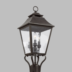 "Feiss Galena 23.25"" Outdoor Post Light OL14406SBL"