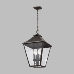 "Feiss Galena 23.3"" Outdoor Pendant Light Fixture OL14408SBL"