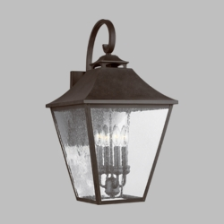 "Feiss Galena 25.3"" Outdoor Wall Lamp OL14404SBL"