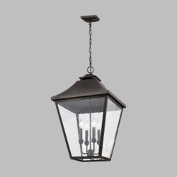 "Feiss Galena 29.25"" Outdoor Pendant Lamp OL14409SBL"