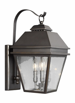 "Feiss Herald 18.25"" Outdoor Wall Sconce OL13501ANBZ"