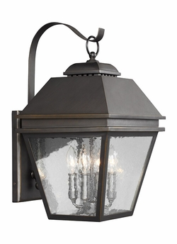 "Feiss Herald 21.5"" Outdoor Wall Sconce Lighting OL13502ANBZ"