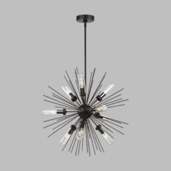 "Feiss Hilo 24"" Exterior Chandelier OLF3295-9ORB"